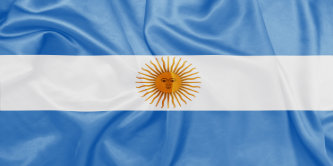 Argentina - Waving national flag on silk texture