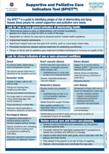 Customised SPICT Tool for Crawley and Horsham and Mid Sussex CCG